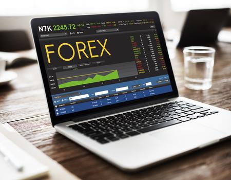 Bolsa de comercio de Forex Finanzas concepto gráfico Foto de archivo - 63641705