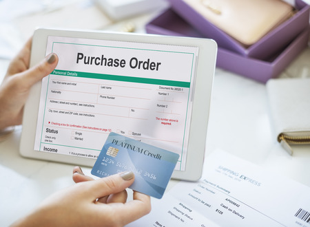 purchase: Purchase Order Form Payslip Concept Stock Photo