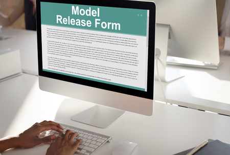 model release: Model Release Form Application Concept Stock Photo