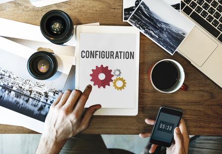 Configuration Settings Setup Tools Concept Stock Photo