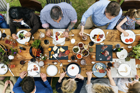 Group Of People Dining Concept 스톡 콘텐츠