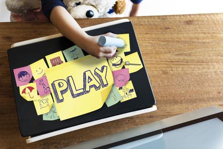 playful: Play Joyful Enjoyment Playful Imagination Dreams Concept