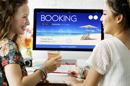 reservation: Booking Ticket Online Reservation Travel Flight Concept