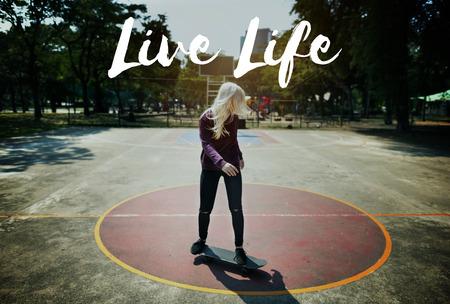 let s: Skateboard Lifestyle Recreation Extreme Sport Concept Stock Photo