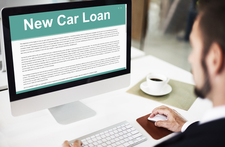 loaning: New Car Loan FInance Leasing Policy Concept