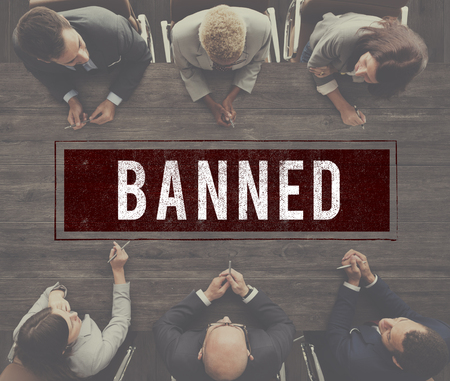failed plan: Denied Rejected Banned Failed Stamp Graphic Concept Stock Photo