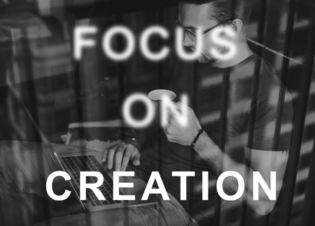 concentrate: Focus On Aim Concentrate Target Determine Concept Stock Photo