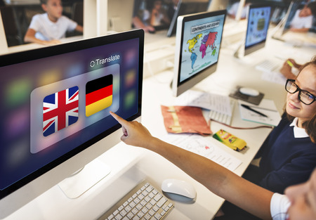 translation: Flag Countries Foreign Word Translation Concept Stock Photo
