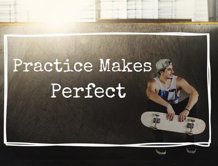 method: Practice Perfect Method Observe Operation Concept Stock Photo