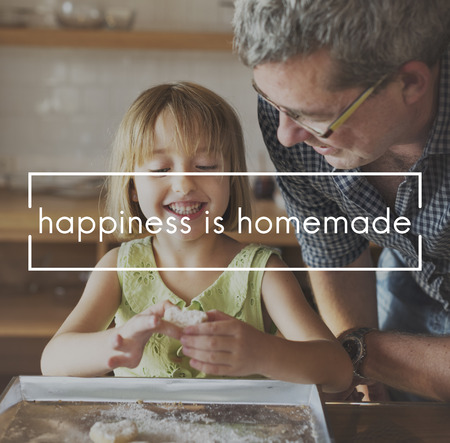 grand daughter: Happiness is Homemade Life Enjoyment Concept