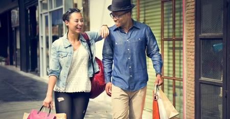 consumerism: People Shopping Spending Customer Consumerism Concept