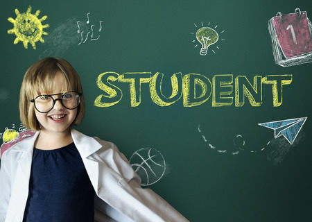 geeky: Study Ideas Learn Kids Concept Stock Photo