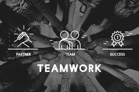 Concepto de negocios trabajo en equipo Colaboración Corporación Foto de archivo