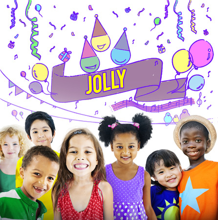 jolly: Happiness Enjoy Fun Jolly Festive Concept