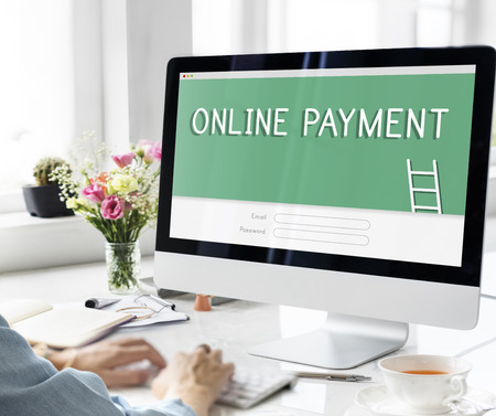 Online Payment Accounting Financial Concept Stock Photo