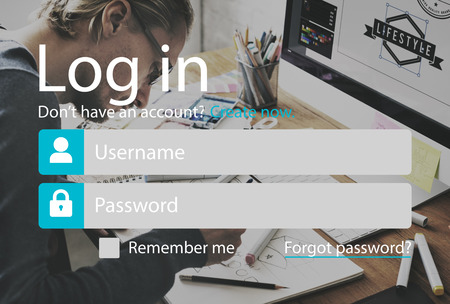 log in: Log In Accessibility Password Security System Concept