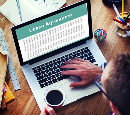 Renting: Lease Renting Contract Residential Tenant Concept Stock Photo