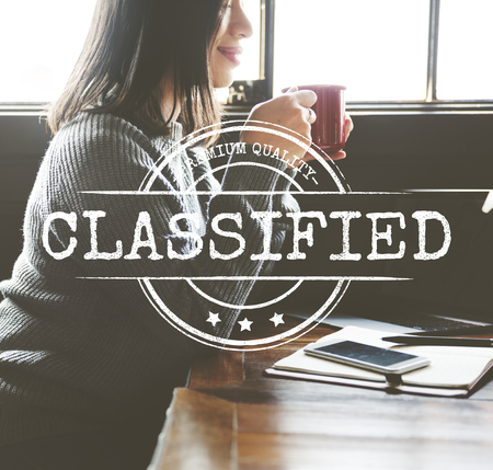 time specification: Inspected Classified Original Qualified Concept Stock Photo