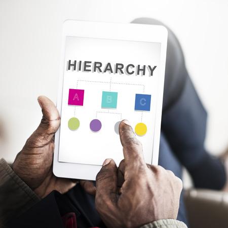 hierarchy: Hierarchy Leader Team Diagram Concept Stock Photo