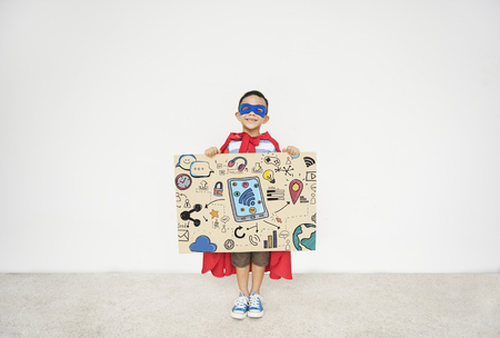Kids Technology  Communication Social Media Graphic Concept