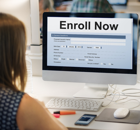submit: Enroll Now Submit Form Concept