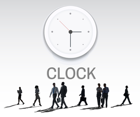 rush hour: Clock Watch Time Moment Concept Stock Photo