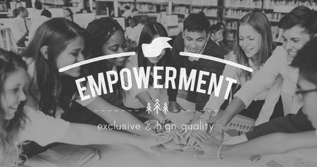 enabling: Empowerment Authority Empowering Permission Progress Concept Stock Photo