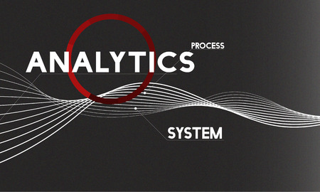 assessment system: Analysis Process System Company Solution Concept Stock Photo
