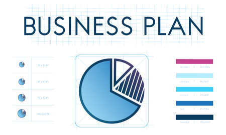Pie chart with business plan concept
