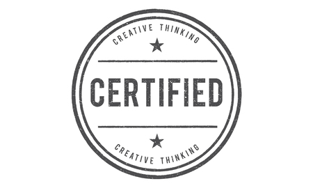 ensure: Certified Guarantee Warranty Verify Stamp Word Concept