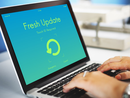 version: Fresh Update Upgrade New Version Concept Stock Photo