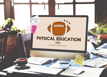 educacion fisica: Physical Education Activity Cheerful Exercising Concept