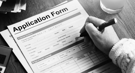 fill up: Application Form Retirement Pensioner Senior Concept