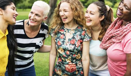Groep van vrouwen Socialize Teamwork Happiness Concept