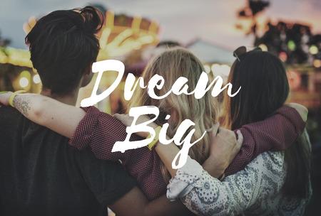 aspiration: Dream Big Aspiration Goal Motivation Target Concept