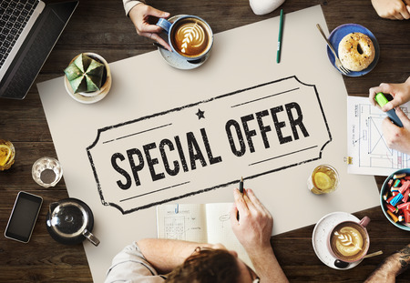 Special Offer Commerce Limited Marketing Concept 스톡 콘텐츠