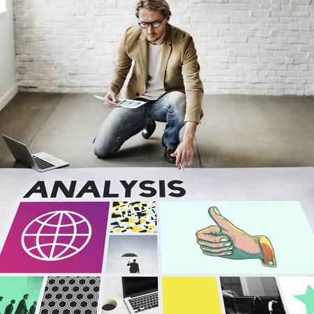 analyze: Analysis Analyze Data Information Insight Report Concept Stock Photo