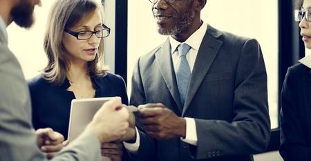 white collar: Colleagues White Collar Worker Teamwork Ideas Concept