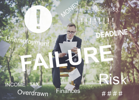 concern: Problema de negocios preocupación Preocupado concepto gráfico Foto de archivo
