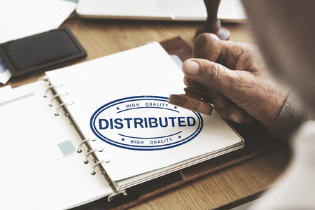 dealing: Distributed Dealing Arrangement Spread Supply Concept Stock Photo