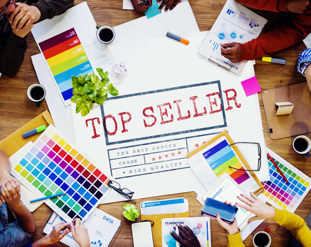 seller: Top Seller High Quality Brand Concept Stock Photo