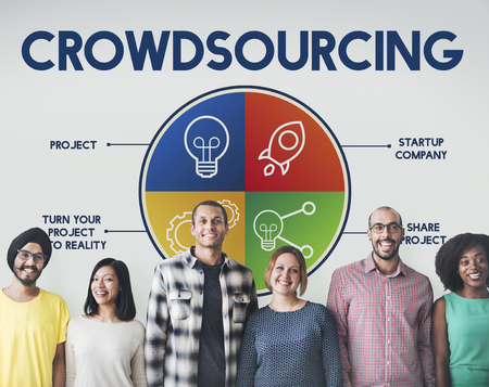 Group of people with crowdsourcing concept