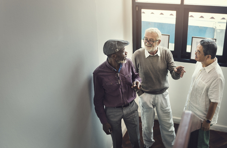 buddies: Buddies Friends Grandfather Group Men Retired Concept