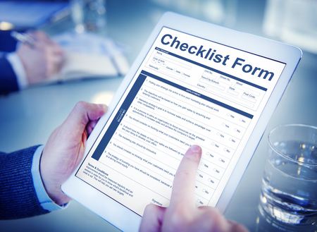 questionnaire: Checklist Form Application Questionnaire Concept Stock Photo