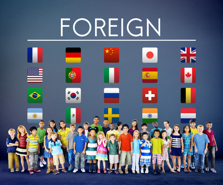 customs official: Flag Countries Foreign International Symbol Concept