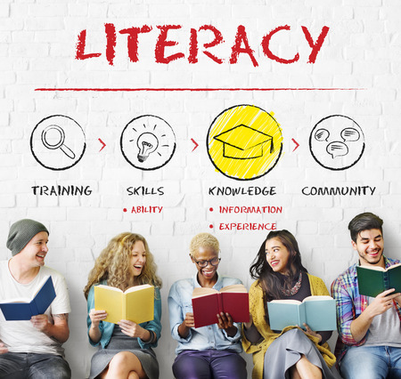 educated: Literacy Educated Knowledge Wisdom Insight Concept Stock Photo