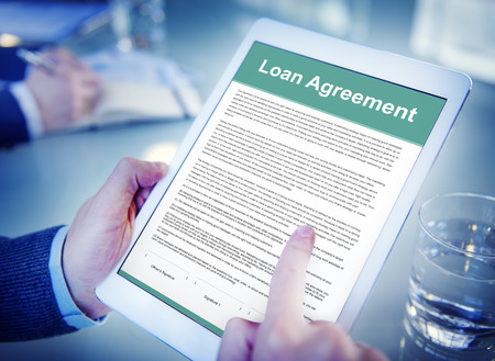 borrow: Loan Agreement Budget Capital Credit Borrow Concept