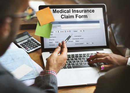 Medical Insurance Claim Form Document Concept Imagens - 63709423