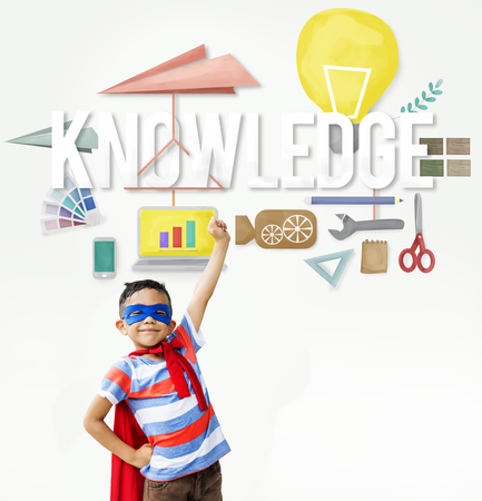 Kids Education Knowledge Study School Graphic Stock Photo