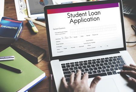 Student Loan Application Form Registration Concept Stock Photo